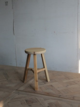 Antique reclaimed wood furniture stool