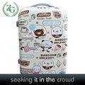 Cute cartoon urso material pc bagagem, cartoon saco da bagagem