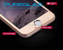 Wholesale Full Mobile Phone Cover 0.3mm 9H Titanium Alloy Color Tempered glass screen protector for iPhone 6