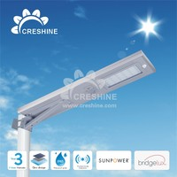 Compact LED Street Light Solar Powered System Lamp