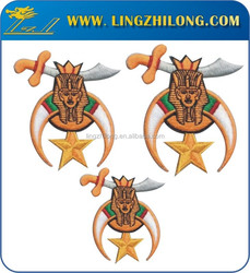 High quality masonic embroidery masonic patches embroidery