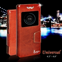 Chnlan New Slide flip universal leather mobile phone case for Yotaphone 2