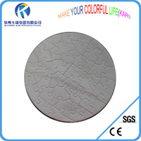 Sublimation round Puzzle for gift