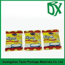 printed design logo heat seal resealable Back seal plastic bags for food packaging