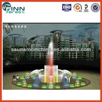 Dry type large colourful villa living quarters outdoor water fountains sale