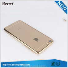 New full protective electroplate hard crystal PC case for iphone 6