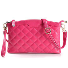 in stock 6 colors Beautiful fashion women PU leather handbag female leather bag zipper bags with long strap