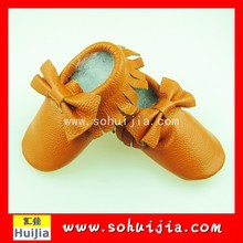 4 sizes and color hand made baby boy and girl sweet soft leather baby shoes for child