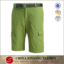 wholesale solid green color top quality 100% polymide quick dry shorts beach