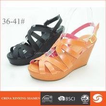 2015 woman sandal Crisscross strap design