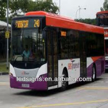 Hidly rgb single/ double/ full color indoor/ outdoor bus led display screen
