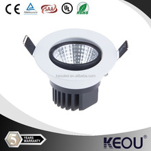 5 Years Guarantee dimmable cob 15/16/18w led downlight with Sharp /Epistar led chip