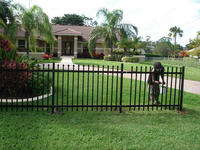 adjustable steel pet fence