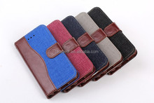 For iPhone 6 Jeans design leather cover case, W0025 stand mobile phone cover for Apple iPhone