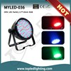 Rechangeable color professional lighting in China DMX LED par, 177*10mm par can