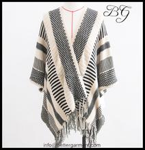 Coréia moda feminina inverno casaco longo modelo poncho BG151103 mais recentes modelos casaco para as mulheres