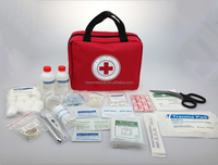Red Cross Emergency First Aid Bag Wound Treatment Kit Health Care Kit