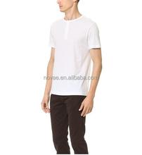 Wholesale Henley Men Cotton $1.00 Big Quantity T-Shirt 100 Cotton Plain T Shirt Stock Lot