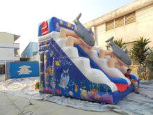giant inflatable slide inflatable double lane slip slide game