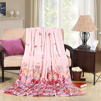 Local warehouse in Russia and USA cheap price 100% polyester flannel blanket door to door service