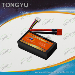 Multicopters LiPo RC Battery Pack 7.4V 1800mAh 40C Discharge Rate For race car , Helis , Boats