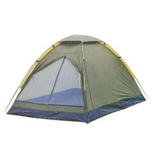 1-3 Person Double Layer Ripstop Polyester Camping Tent With Fiberglass Pole
