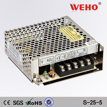 25w switching power supply S-25-5 5v dc led driver