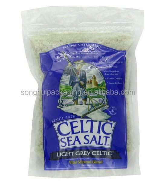 Reforço inferior saco de plástico para celtic sal do mar