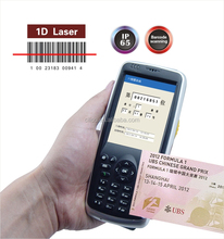 Wins mobile 6.5 OS 3.2inch 13.56Mhz rfid reader with 1d laser barcode scanner
