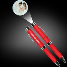 Brand Logo Projector Ballpoint Pen customize cartoon projection Electronic pen any color available
