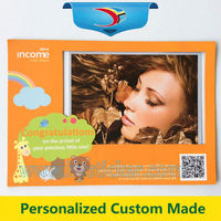 Customize Shaped Printed Square Clear Mini PVC Magnetic Photo Frame with free logo