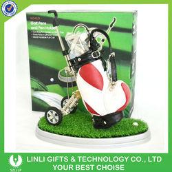 Leather Bag+Green Grass Mini Golf Sets Supplier