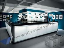 Tell World top quality custom artficial marble bar counter high end modern wine bar counter