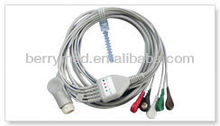HP one piece 5-lead ecg/ekg cable with leadwires