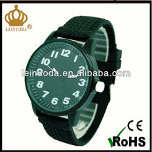 Black alloy case and silicone band wholesale watch 2013(CE&RoHS)