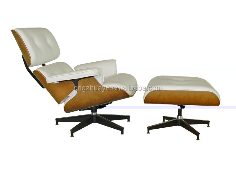 Genuine leather Eames lounge chair