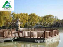 HongYuan Low-Maintenance wood plastic composite Garden Fence