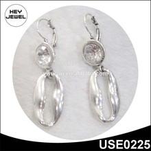 Nuevo diseño moda arete plata cristal