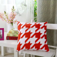 Fashionable And Simple Velet Sofa Cushion With Print