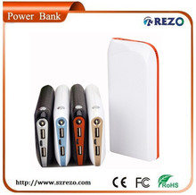 Dual USB port & 3pcs led light 20800mah Portable Charger Power Bank External Battery