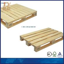 European white compressed wood pallet