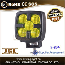 JEEP SUV cree 25w led tuning light off road Truck led work light 25w Auto led work lamp for marine