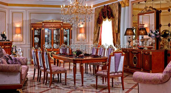 0038 high quality european solid wood luxury classic royal for Best quality dining room furniture manufacturers