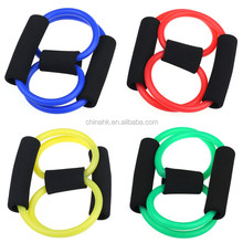 Resistance 8 Type Expander Rope Workout Exercise Yoga Tube Sports