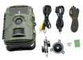 visão noturna caça câmera com 12MP Lens, pode colocar na caixa de segurança e se conectar com painel solar