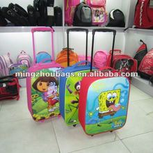 2012 New Style Polyester 600D Cheap Cute Kids Luggage