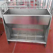 Pig farm easy management stainless steel feed trough for pig