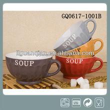 Ceramic soup bowl hot sale gift