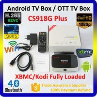 2015 Amlogic google antenna wifi android tv box, quad core S805 HD tv box CS918G plus 4k XBMC H.265