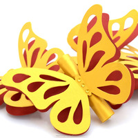 Royal Gold Custom butterfly scroll wedding invitations